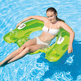 Intex Sit n Float Inflatable Pool Lounge Chair Green Or Yellow Available - BumpsieDaisy