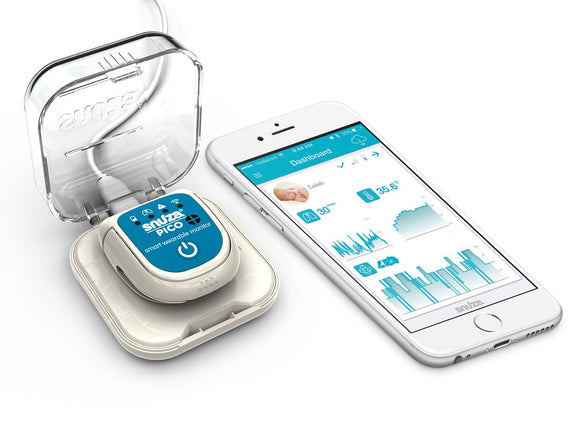 Snuza Pico Baby Movement Breathing Skin Temperature Position Smart Monitor - BumpsieDaisy