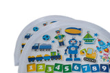 Toosh Coosh Toddler Kids Childrens Food Table Tray Robot or Jungle Design - BumpsieDaisy