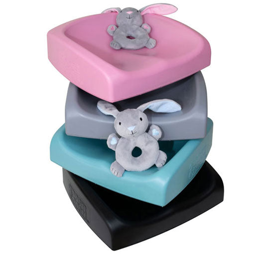 Toosh Coosh Soft Portable Child Toddler Booster Seat Charcoal Grey Pink or Teal - BumpsieDaisy