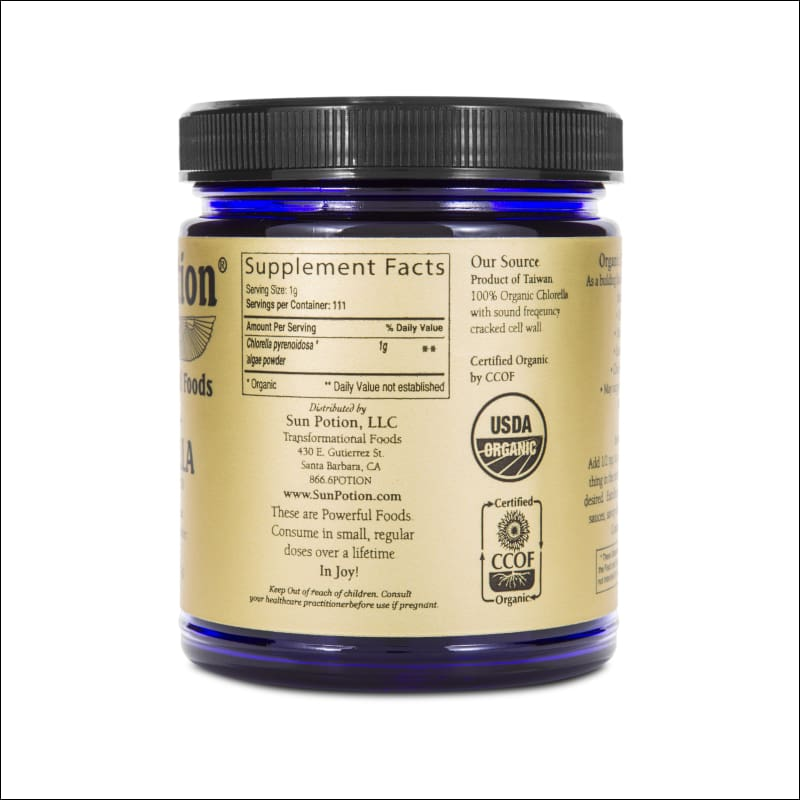 Chlorella Algae Powder (Organic Sound Processed) 111G.