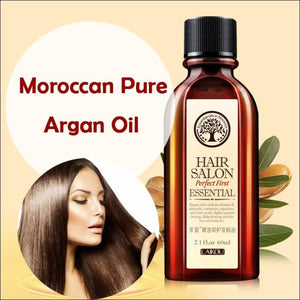 Hair Care Essential Oil Treatment For Dry Hair | Moisturizing Soft And Shiny Hair 60Ml Moroccan Pure Argan Oil