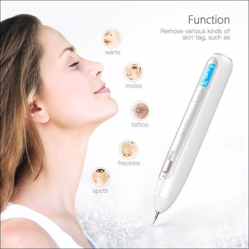 Mole Removal Skin Care W/ Led Spotlight | Dark Spot Freckle Remover Point Pen Machine With 50 Pcs Needles