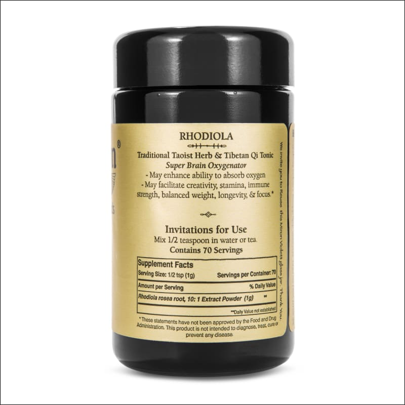 Rhodiola (Wildcrafted) 70G. 10:1 Extract