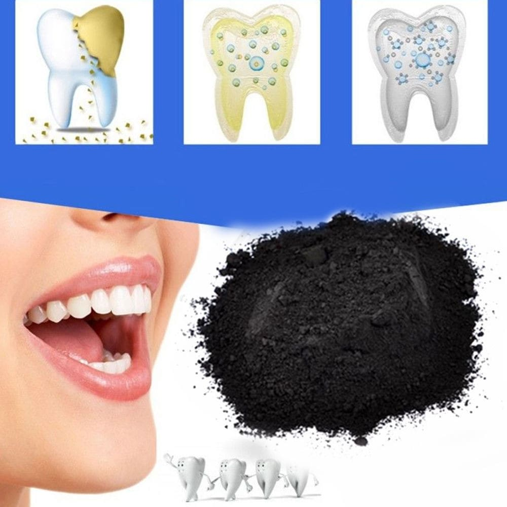 Natural Organic Activated Charcoal Bamboo Toothpaste Teeth Whitening Powder