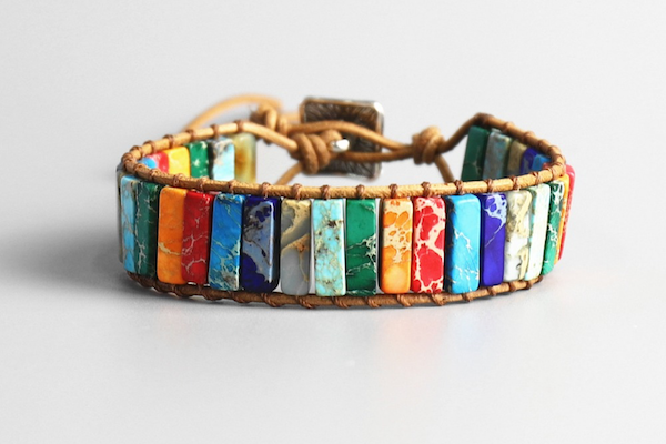Assorted Natural Stone Bracelet (7 Chakras)