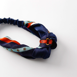 Knotted Hairband (Navy)