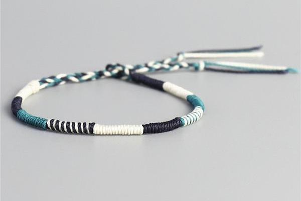 Wax Thread Bracelet (Teal Drake)