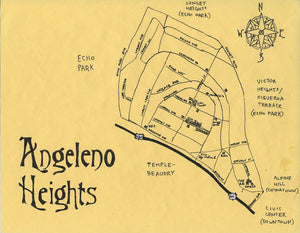 Pendersleigh Cartography Angelino Heights Map by Eric Brightwell