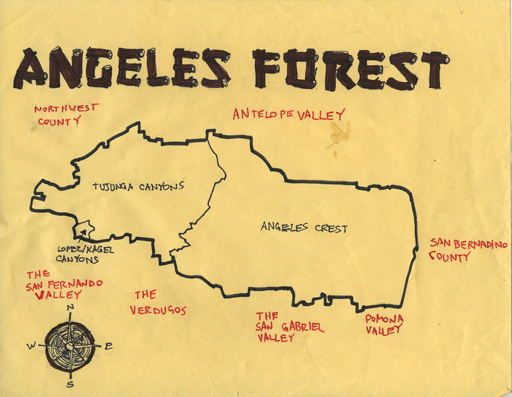 Pendersleigh Cartography Angeles Forest Map by Eric Brightwell