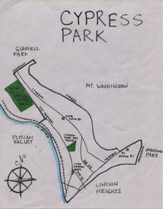 Pendersleigh Cartography Cypress Park Map by Eric Brightwell
