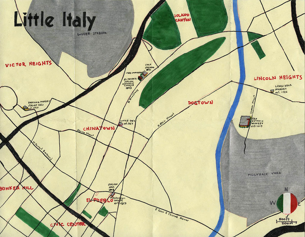 Pendersleigh Cartography Little Italy Map By Eric Brightwell