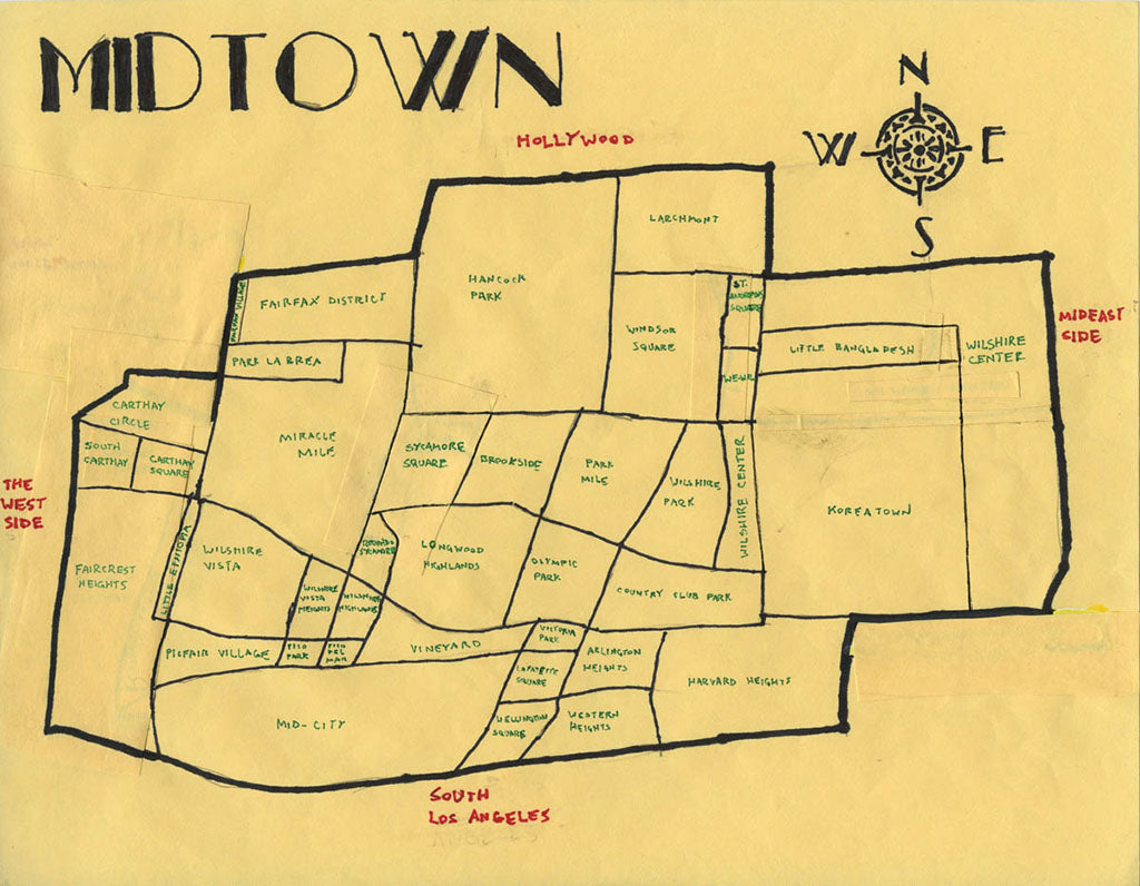 Pendersleigh Cartography Midtown Map by Eric Brightwell