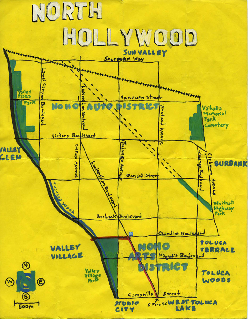 Pendersleigh Cartography North Hollywood by Eric Brightwell