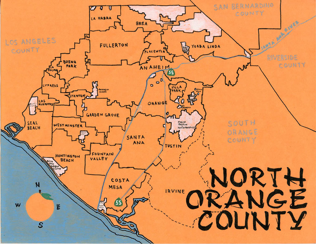 Pendersleigh Cartography North Orange County by Eric Brightwell