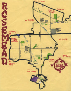Pendersleigh Cartography Rosemead Map by Eric Brightwell