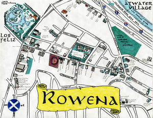Pendersleigh Cartography Rowena Map by Eric Brightwell