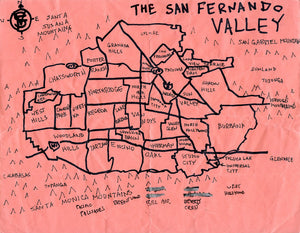 Pendersleigh Cartography San Fernando Valley Map by Eric Brightwell
