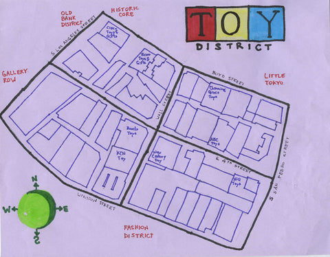 Pendersleigh Cartography Toy District Map by Eric Brightwell