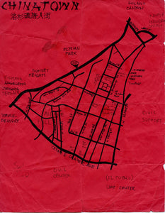 Pendersleigh Cartography Chinatown Map by Eric Brightwell