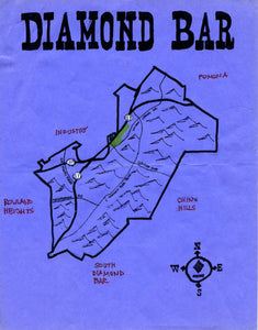 Pendersleigh Cartography Diamond Bar Map by Eric Brightwell