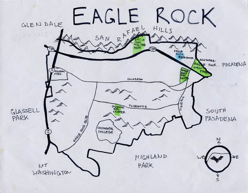 Pendersleigh Cartography Eagle Rock Map by Eric Brightwell