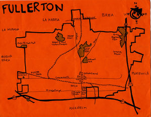Pendersleigh Cartography Fullerton Map by Eric Brightwell