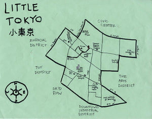 Pendersleigh Cartography Little Tokyo Map by Eric Brightwell