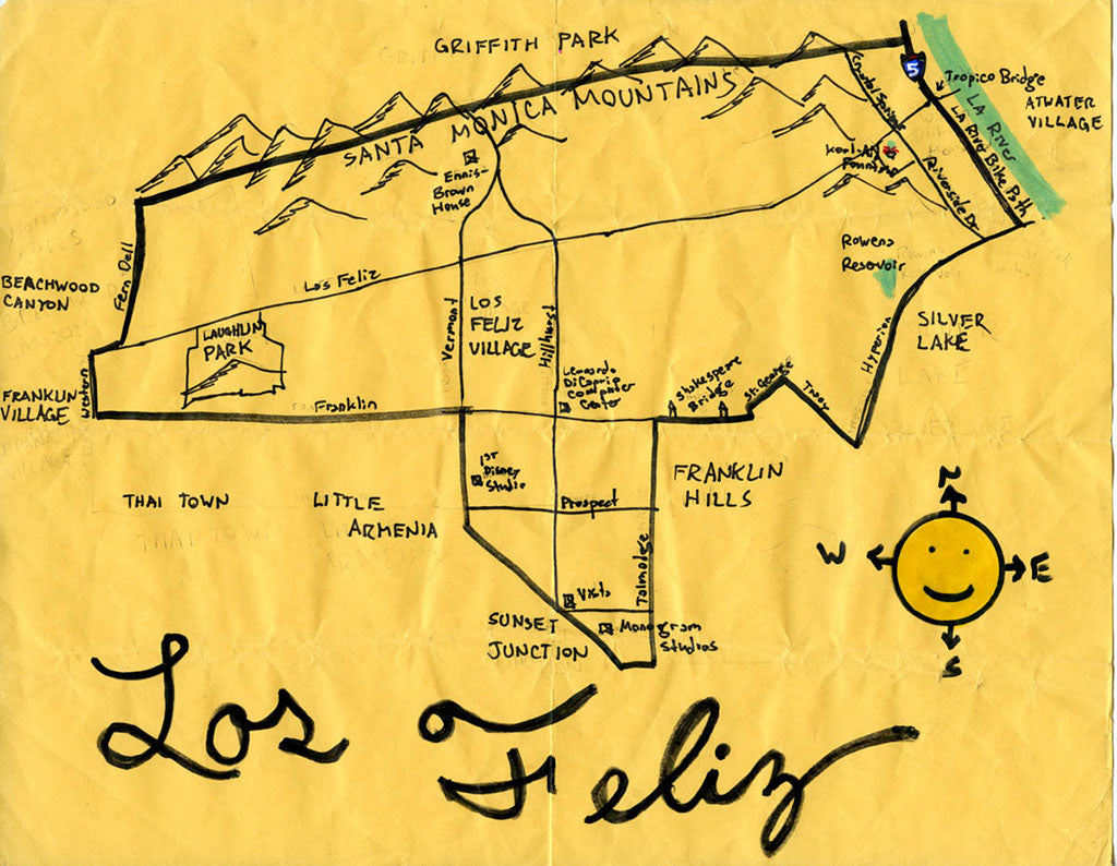 Pendersleigh Cartography Los Feliz Map by Eric Brightwell