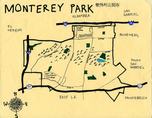 Pendersleigh Cartography Monterey Park by Eric Brightwell