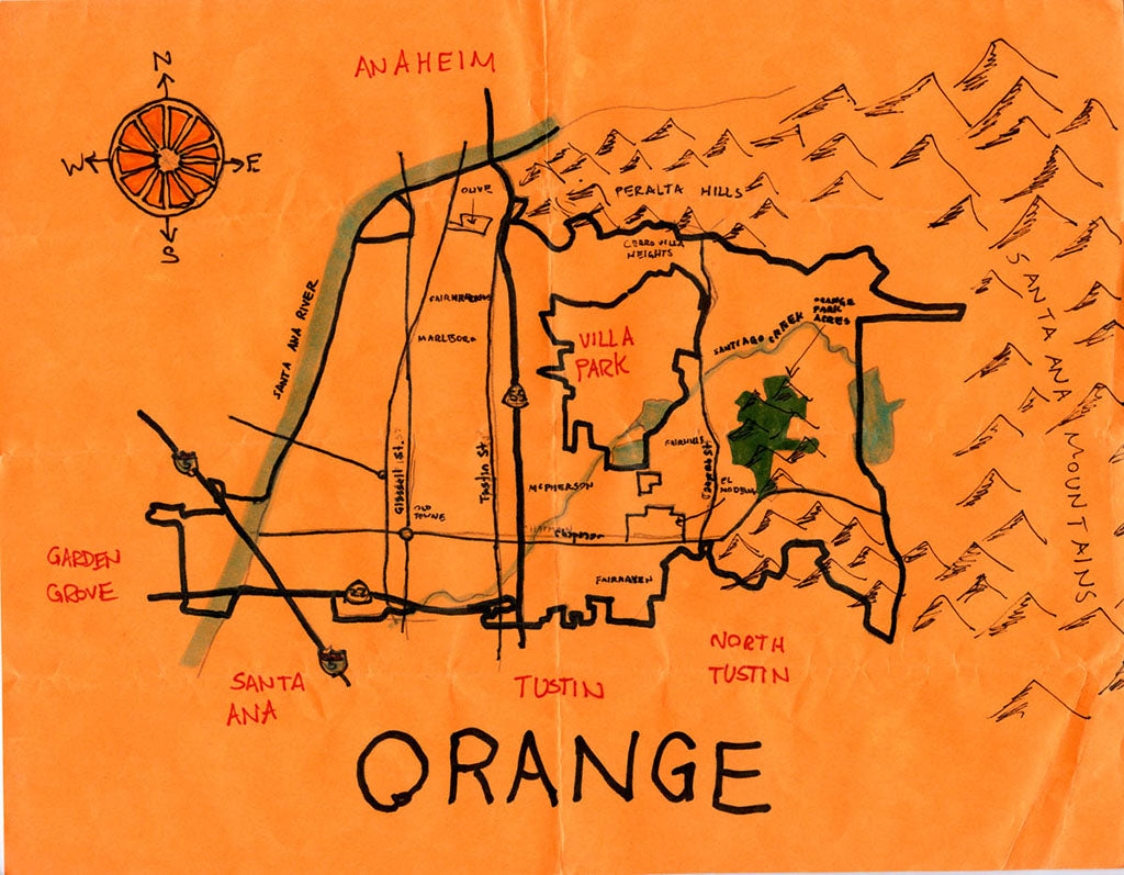 Pendersleigh Cartography Orange Map by Eric Brightwell