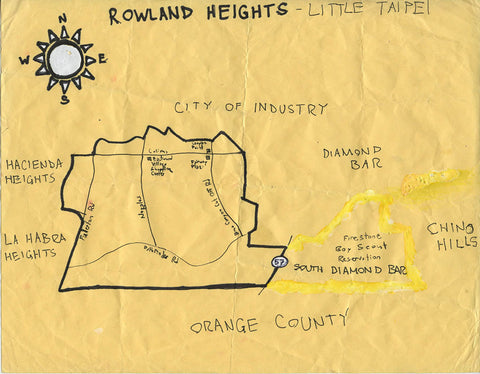 Pendersleigh Cartography Rowland Heights/Little Taipei Map by Eric Brightwell