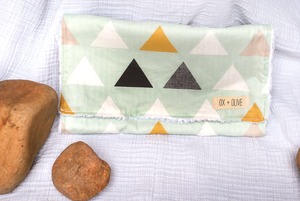 Geometric Burp Cloth