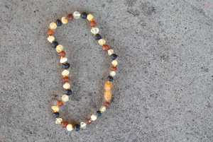 Baltic Amber Teething Necklace - Raw Multi-colored