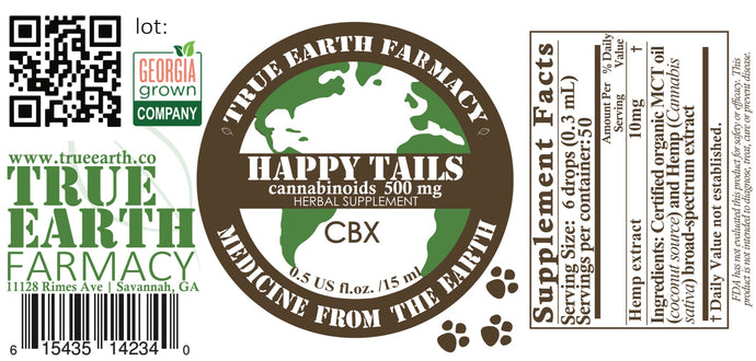 Happy Tails 500mg Pet CBX