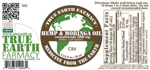 CBX 2000 mg Hemp / Moringa Oil Broad Spectrum