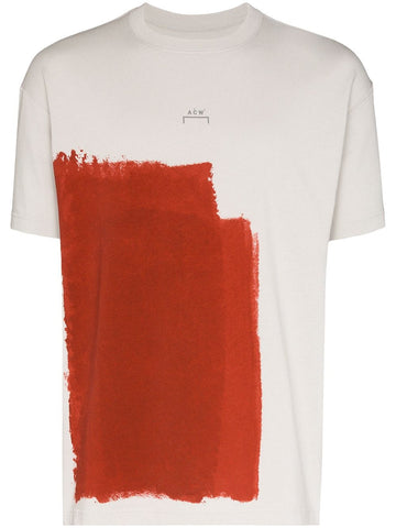 KNITTED BLOCK PAINTED T SHIRT