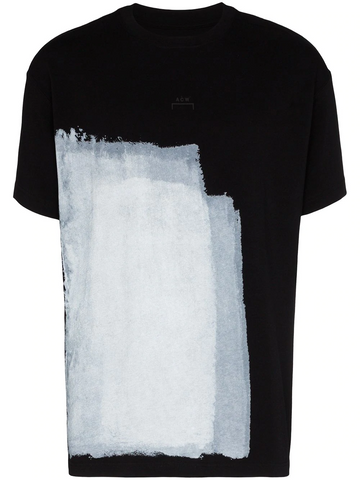 KNITTED BLOCK PAINTED T-SHIRT