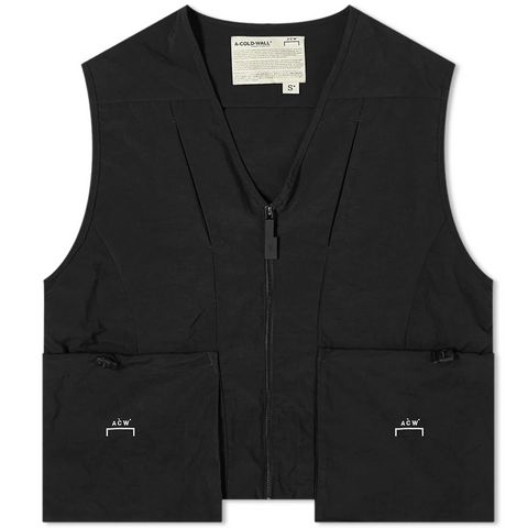WOVEN JACKET DRAWCORD POCKET GILET
