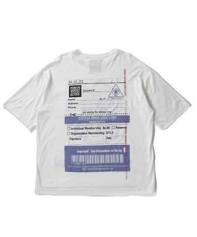 MIHARAYASUHIRO JUSTIFIED ERROR EYE PRINTED T-SHIRT