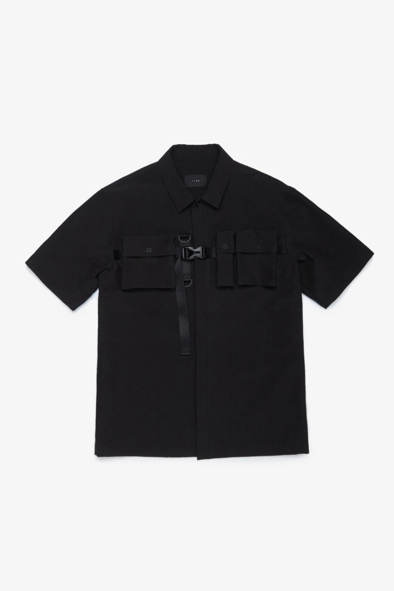 IISE UTILITY SHIRT BLACK SEERSUCKER