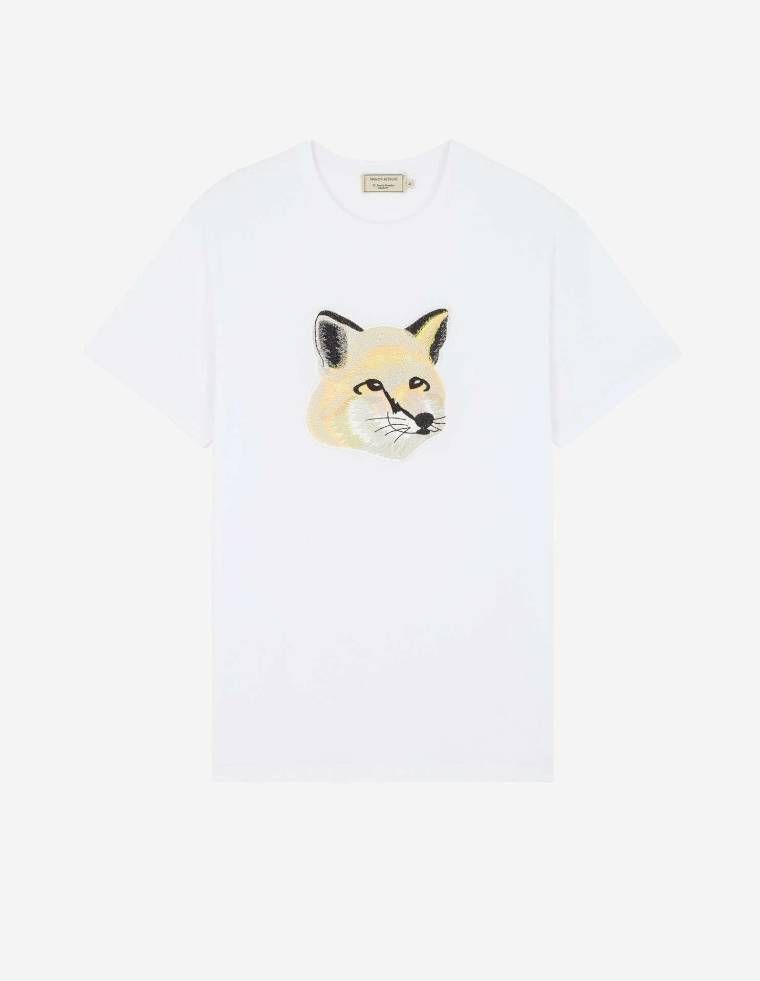 TEE-SHIRT PASTEL FOX HEAD EMBROIDERY