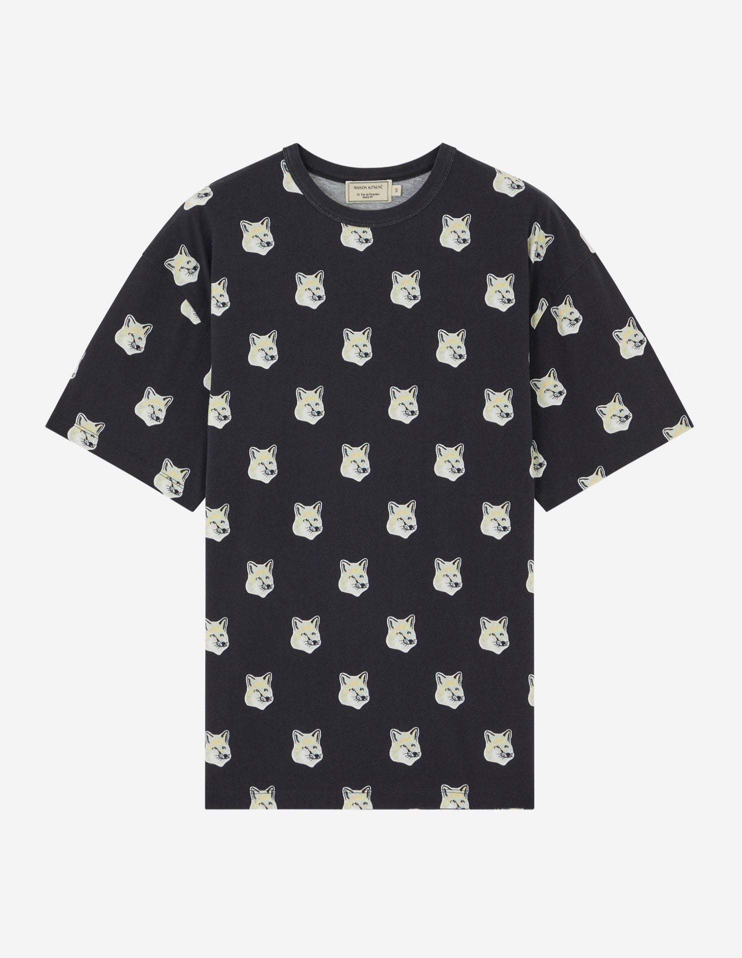 TEE-SHIRT ALL-OVER PASTEL FOX HEAD