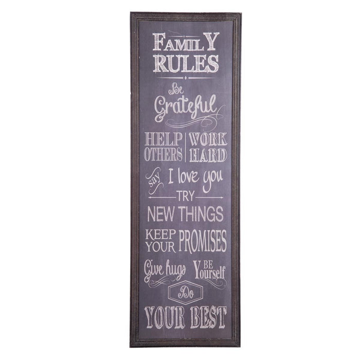 Family Rules Wall Art Home Decor Foreside Home And Garden   Indie + Roe