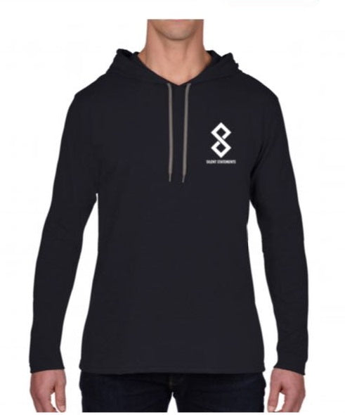 Black Pullover Fitted Hoodie