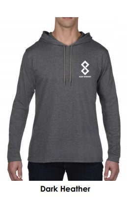 Dark Heather Grey Fitted Pullover Hoodie