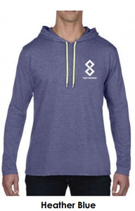 Heather Blue Fitted Pullover Hoodie