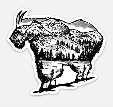 Lyle Hebel Goat Sticker