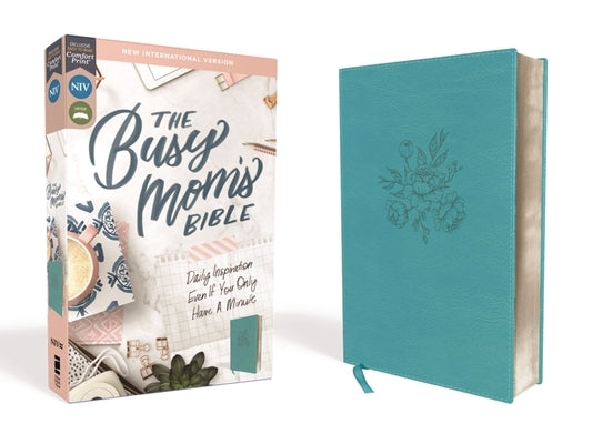 Niv, Busy Mom's Bible, Leathersoft, Teal, Red Letter Edition, Comfort Print: Daily Inspiration Even If You Only Have One Minute by Zondervan