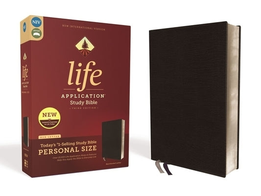 Niv, Life Application Study Bible, Third Edition, Personal Size, Bonded Leather, Black, Red Letter Edition by Zondervan